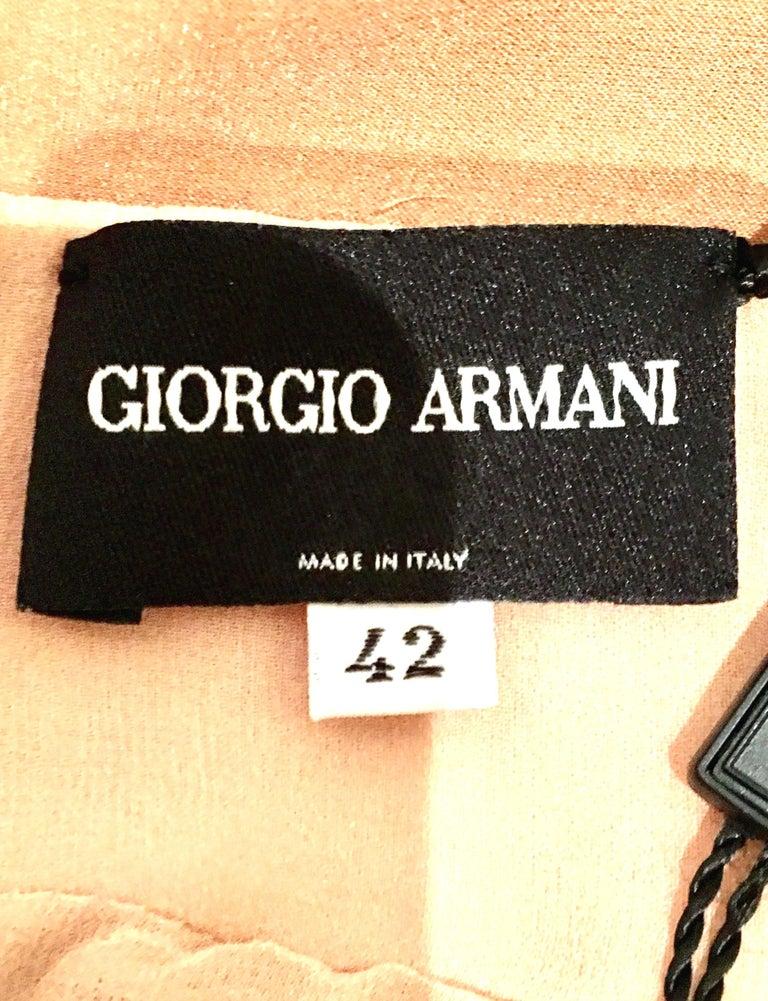 21st Century Italian Silk Chiffon Slip Dress By Girogio Armani - Size 42 For Sale 10