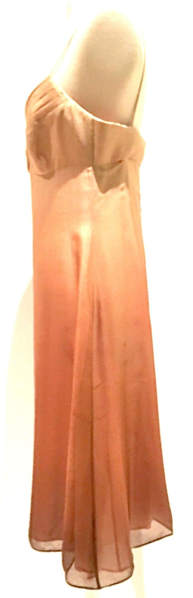 21st Century Italian Silk Chiffon Slip Dress By Girogio Armani - Size 42 In Good Condition For Sale In West Palm Beach, FL