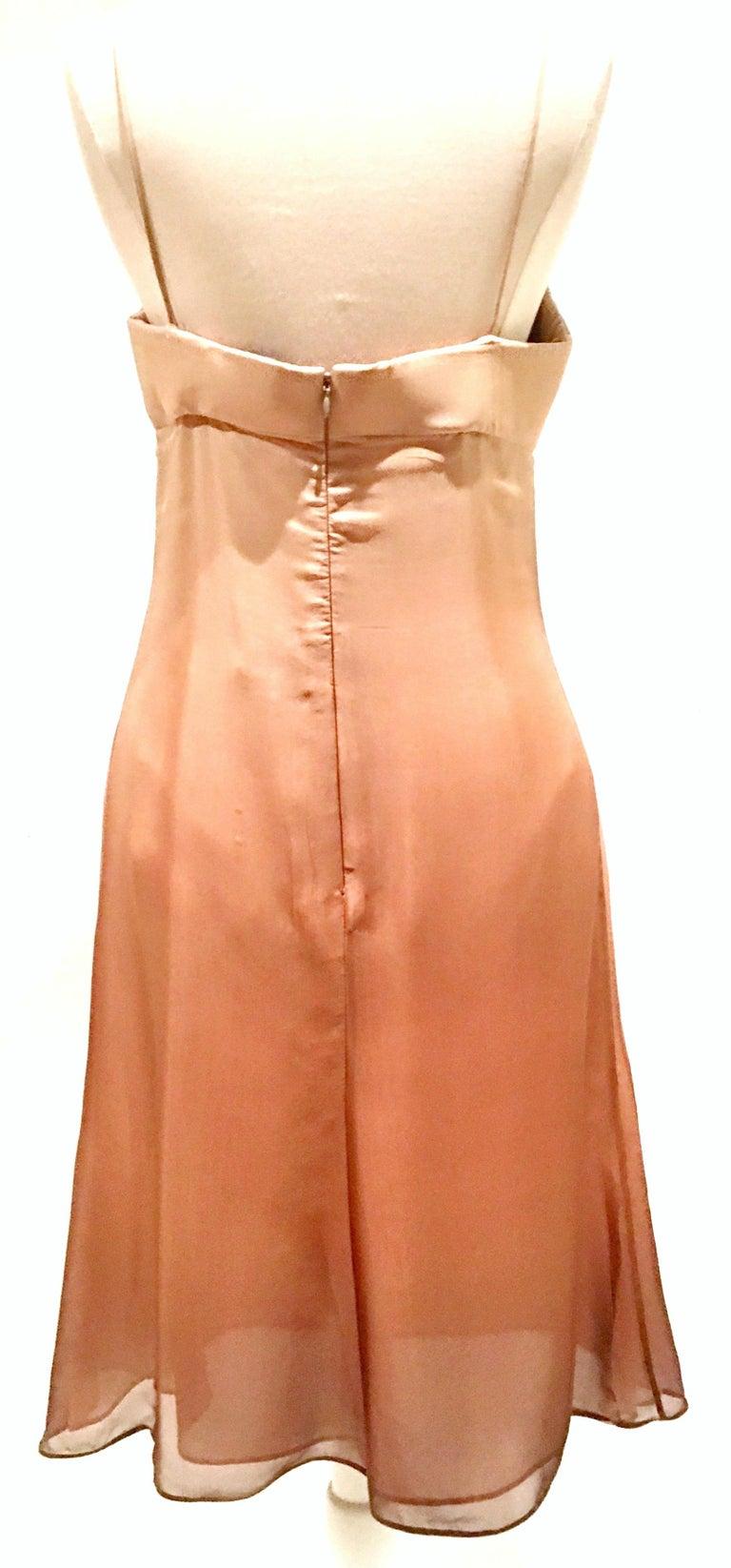 Women's or Men's 21st Century Italian Silk Chiffon Slip Dress By Girogio Armani - Size 42 For Sale