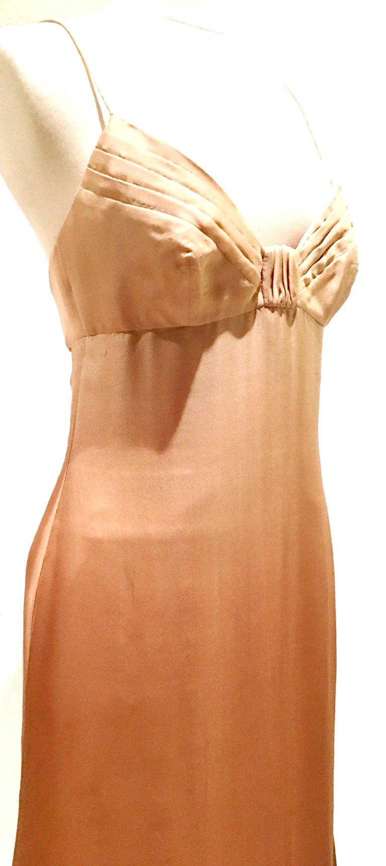 21st Century Italian Silk Chiffon Slip Dress By Girogio Armani - Size 42 For Sale 1