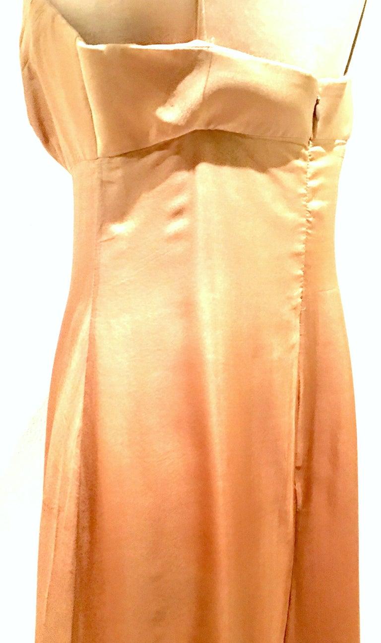 21st Century Italian Silk Chiffon Slip Dress By Girogio Armani - Size 42 For Sale 2