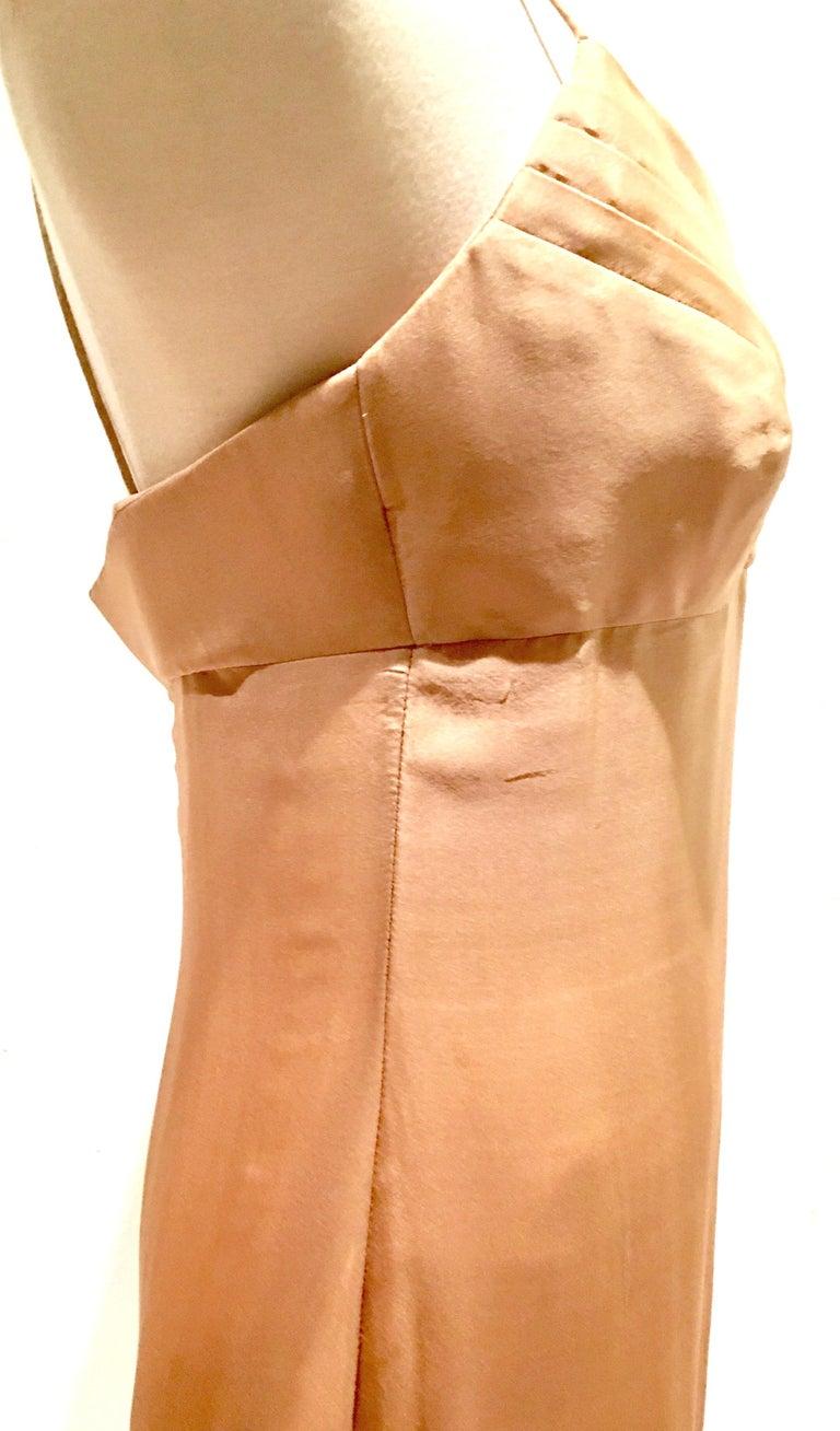 21st Century Italian Silk Chiffon Slip Dress By Girogio Armani - Size 42 For Sale 3