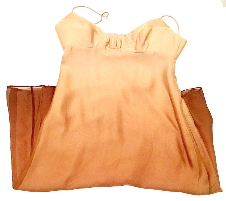 21st Century Italian Silk Chiffon Slip Dress By Girogio Armani - Size 42 For Sale 4