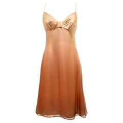 21st Century Italian Silk Chiffon Slip Dress By Girogio Armani - Size 42
