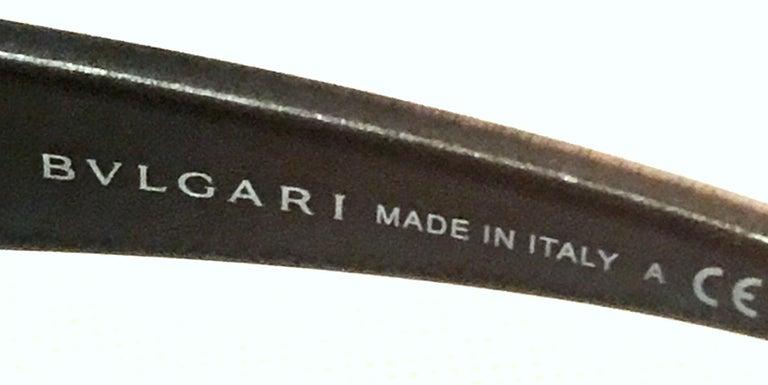 21st Century Italian Silver & Swarovski Crystal Bvlgari Logo Sunglasses  For Sale 9