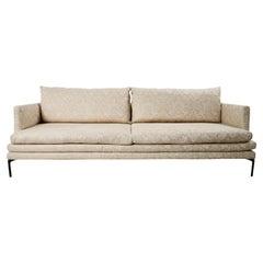 21st Century Italian Zanotta Sofa Upholstered in Schumacher Fabric