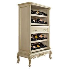 21st Century Ivory Finished Baroque Wine Rack by Modenese Gastone Interiors