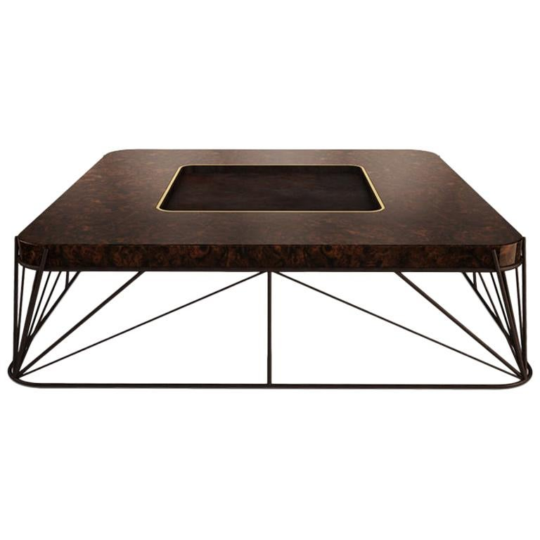 21st Century Judd Center Table Walnut Wood Root For Sale