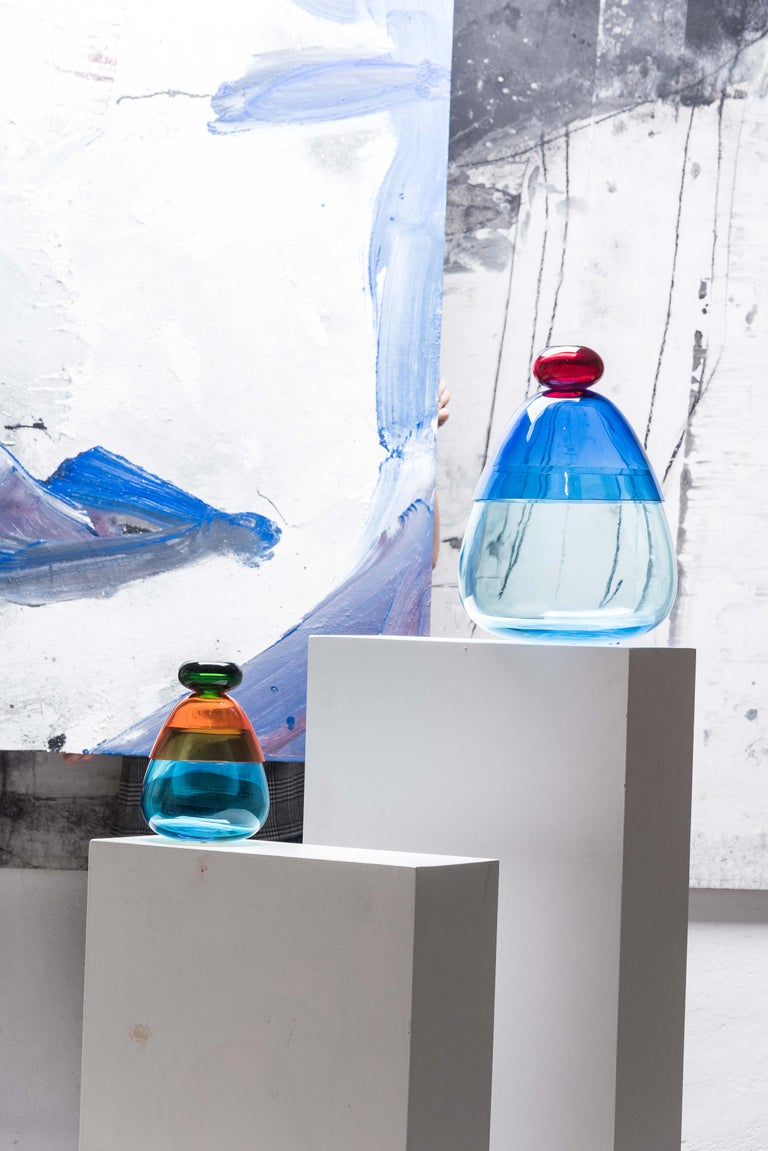 Hand-Crafted 21st Century Karim Rashid Centerpiece Vase Murano Glass Various Colors For Sale