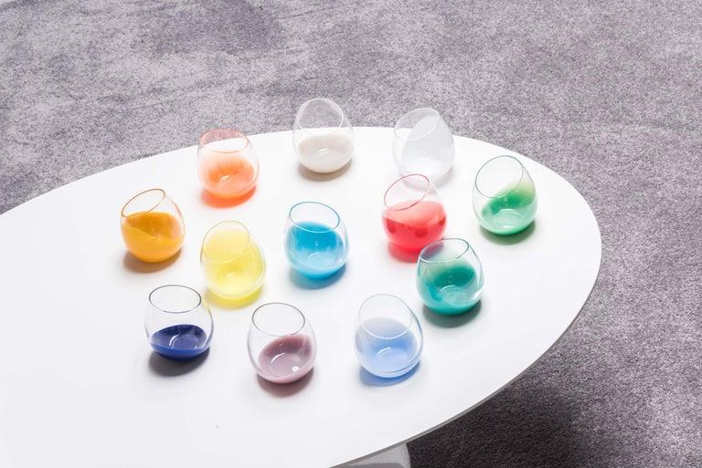 Contemporary 21st Century Karim Rashid Glasses Murano Glass Various Colors