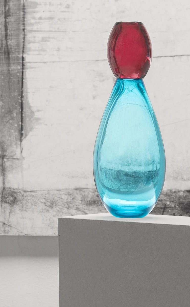Contemporary 21st Century Karim Rashid King Vase Murano Glass Various Colors For Sale