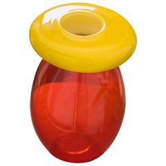 21st Century Karim Rashid Queen Vase Murano Glass Various Colors