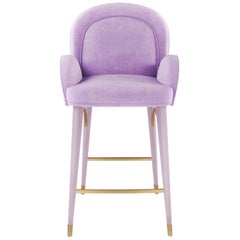 21st Century Karin Bar Chair Cotton Velvet