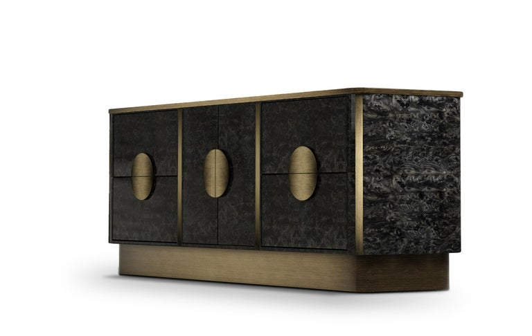 The Knox sideboard originates from one of Porus Studio's iconic design piece, Knox contemporary nightstand. Based on the same aesthetic that created a legacy, the Knox sideboard takes exceptional craftsmanship and design to a new dimension.