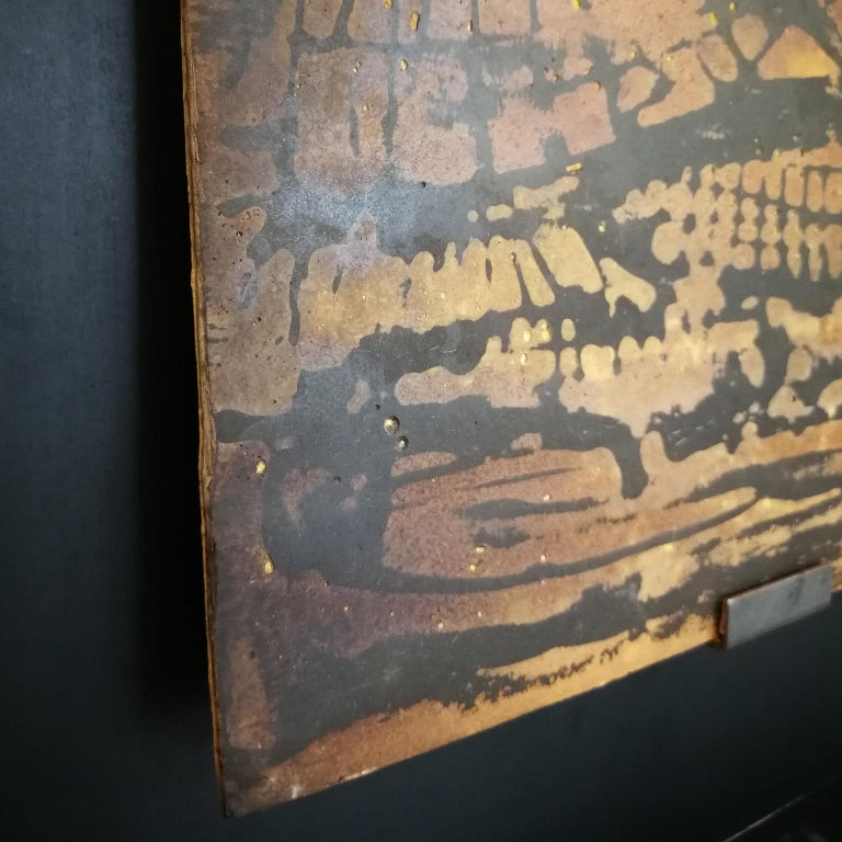 Other 21st Century Laboratorio Avallone Artwork on Terracotta Stucco and Painted For Sale