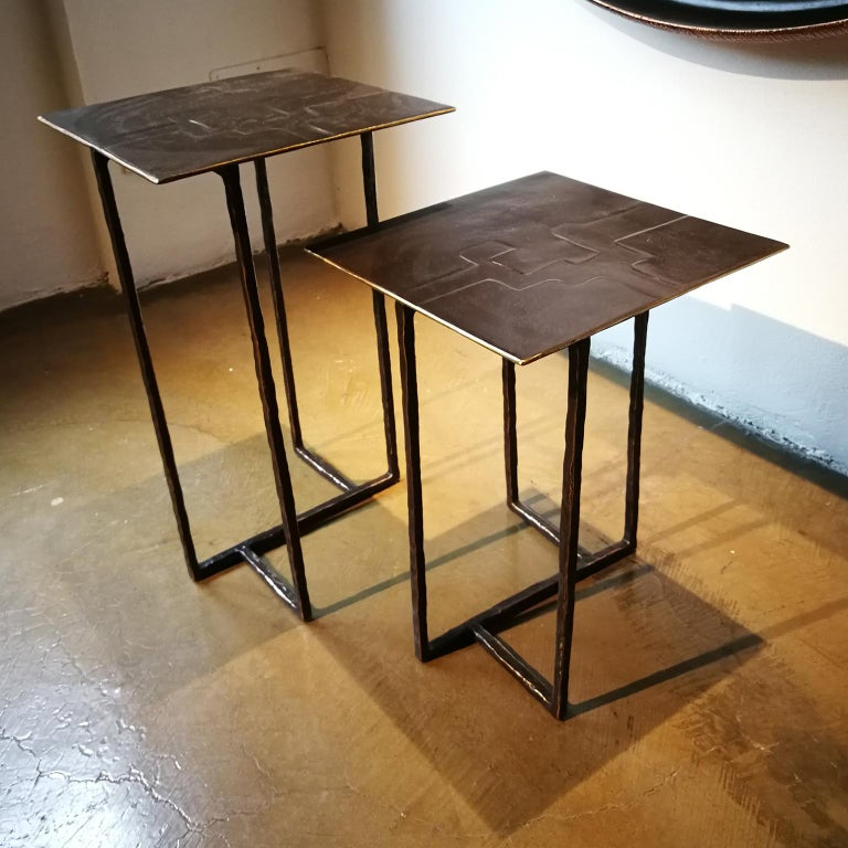 21st Century Laboratorio Avallone Side Table Cocktail Table Cast Bronze For Sale 4