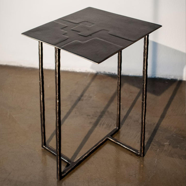 Modern 21st Century Laboratorio Avallone Side Table Cocktail Table Cast Bronze For Sale