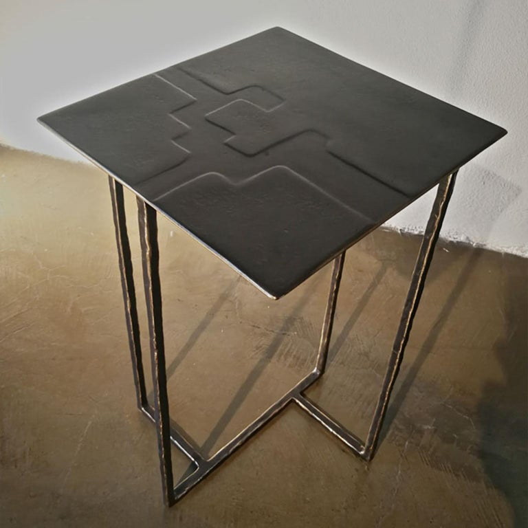 Italian 21st Century Laboratorio Avallone Side Table Cocktail Table Cast Bronze For Sale