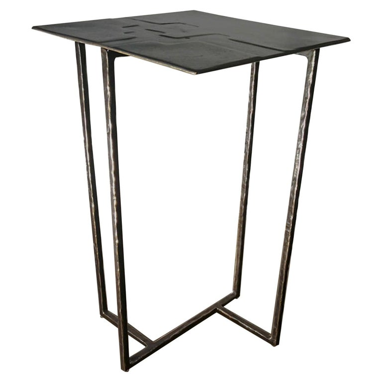 21st Century Laboratorio Avallone Side Table Cocktail Table Cast Bronze For Sale