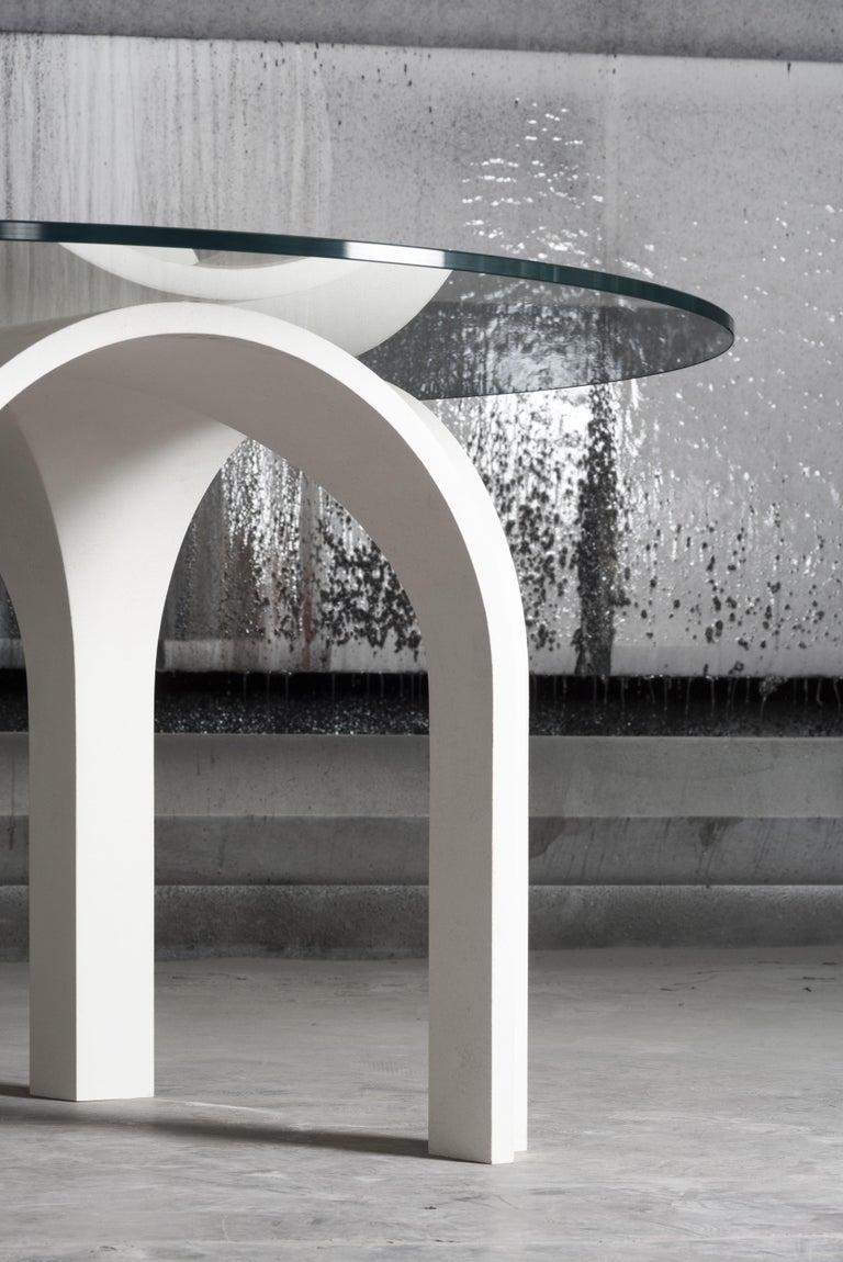 21st Century Laguna White Modular Table Glass Top ...