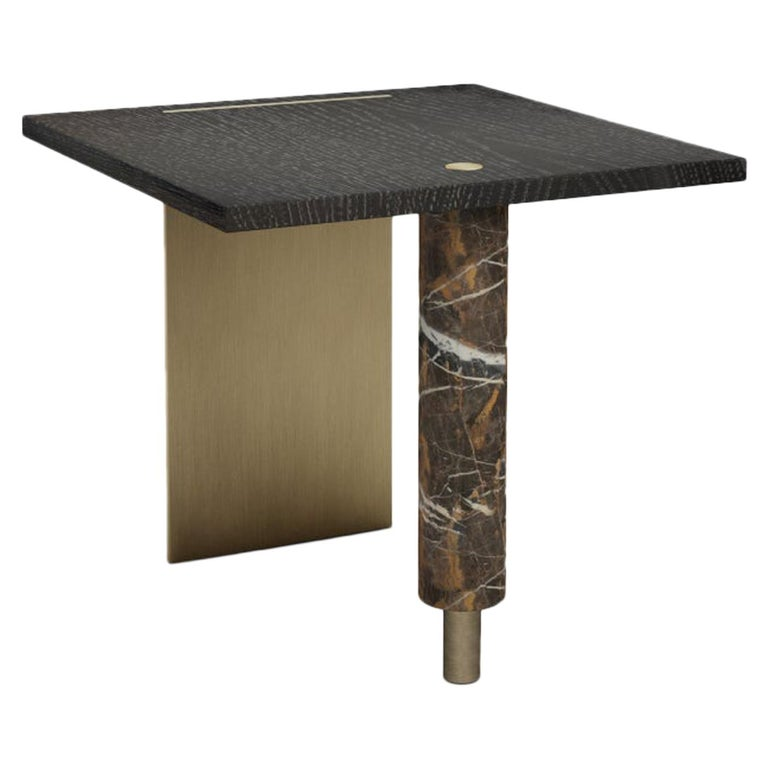 21st Century Lakewood Side Table Stained Oak For Sale