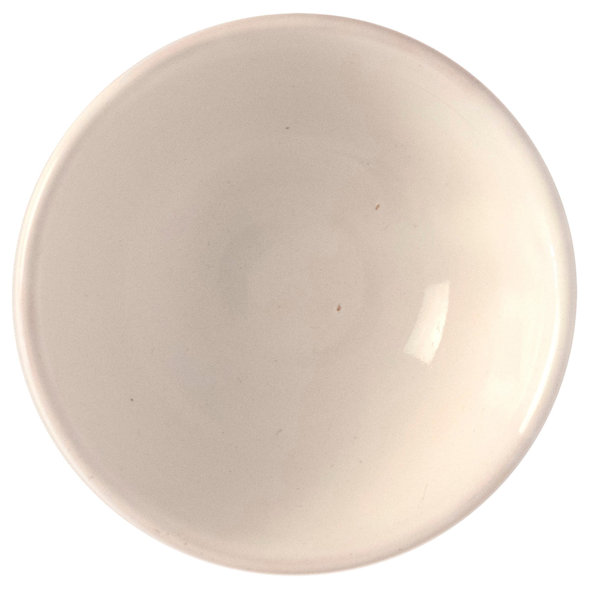 21st Century Large Ceramic Bowl in White Handmade