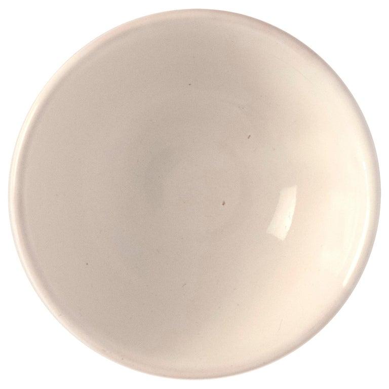 21st Century Large Ceramic Bowl in White Handmade For Sale