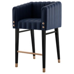 21st Century Leather Inglewood Bar Chair Wood