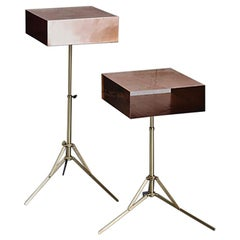 21st Century Lem Copper Side Table with Brass Base