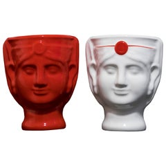 21st Century, Lentini, Malandrina, Ceramic Vases, 2 Pieces