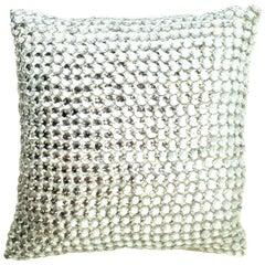 21st Century Linen & Mirror Work Feather Pillow by, Sivaana