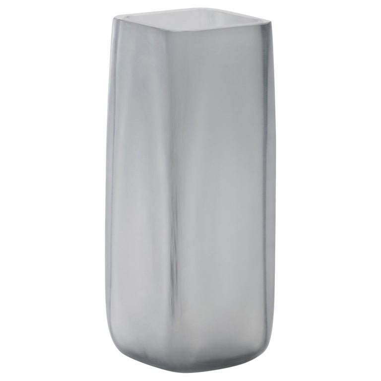 21st Century LPWK Vase Frosted Murano Glass Various Colors For Sale