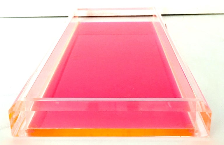 21st century and new Lucite rectangular tray by Alexandra Von Furstenberg-