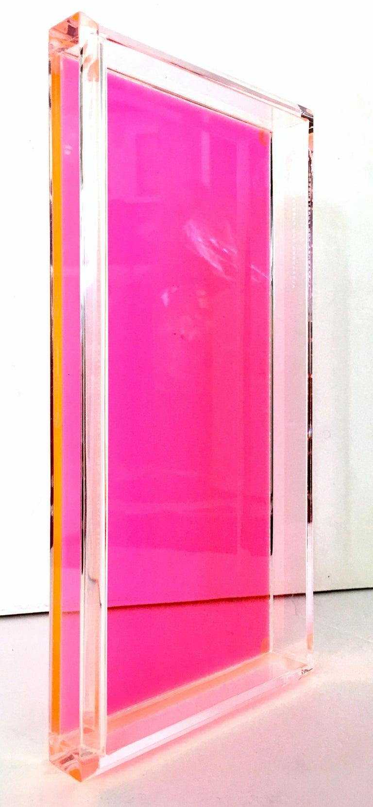 Contemporary 21st Century Lucite Rectangular Tray by Alexandra Von Furstenberg For Sale