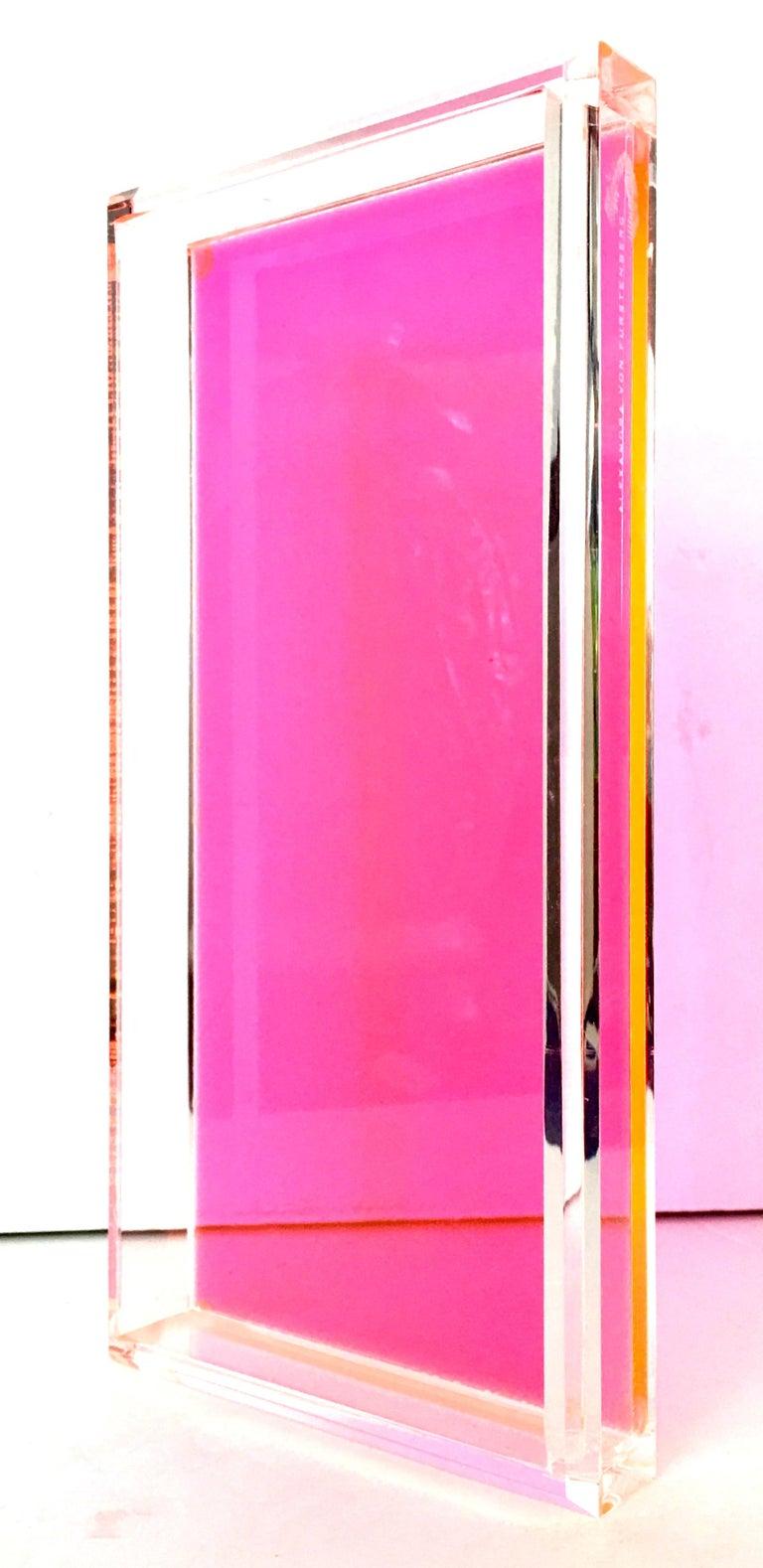 21st Century Lucite Rectangular Tray by Alexandra Von Furstenberg For Sale 1