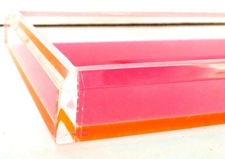 21st Century Lucite Rectangular Tray by Alexandra Von Furstenberg For Sale 4