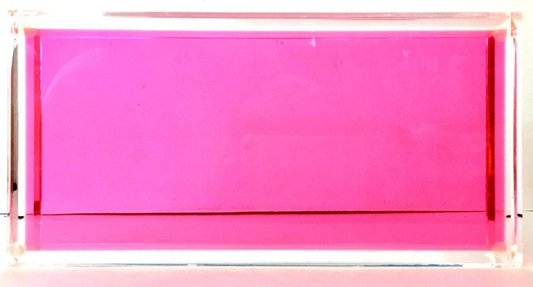 21st Century Lucite Rectangular Tray by Alexandra Von Furstenberg For Sale 5