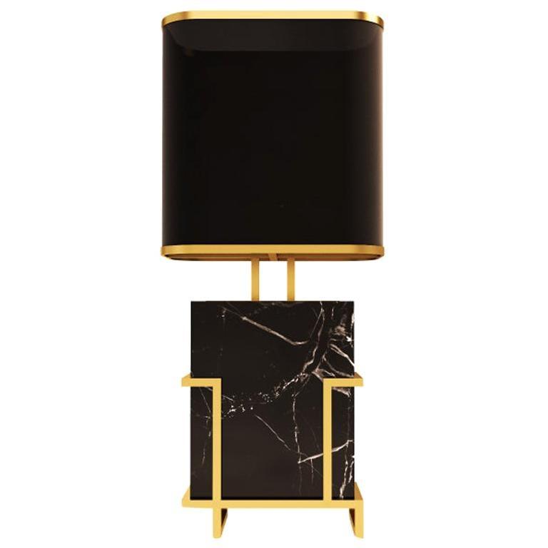 21st Century Luděk Table Lamp Marquina Marble