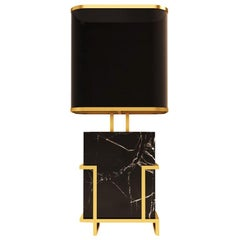 21st Century Luděk Table Lamp Marquina Marble