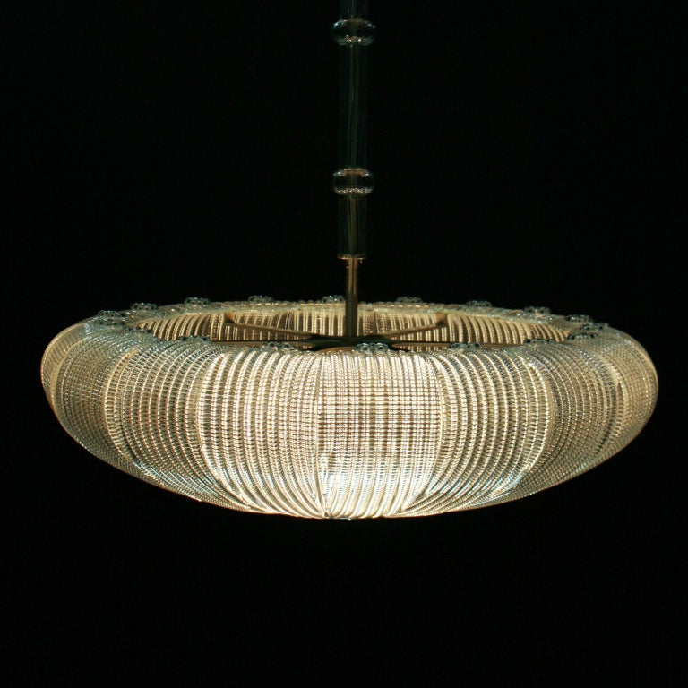 Other 21st Century Luxury Chandelier Clear Glass Handmade Plates by Multiforme For Sale