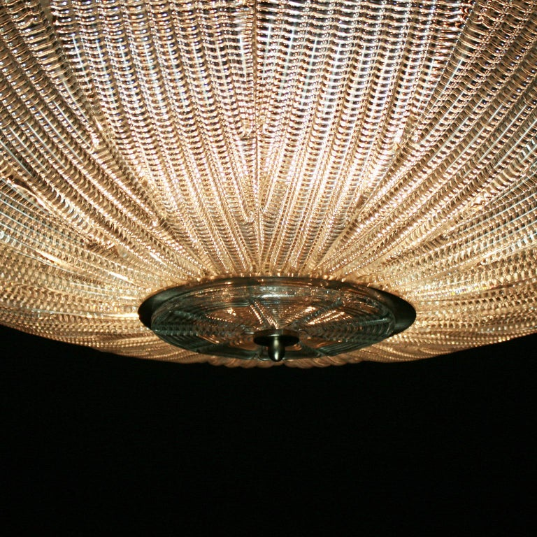 Italian 21st Century Luxury Chandelier Clear Glass Handmade Plates by Multiforme For Sale