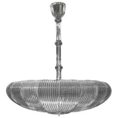 21st Century Luxury Chandelier Clear Glass Handmade Plates by Multiforme