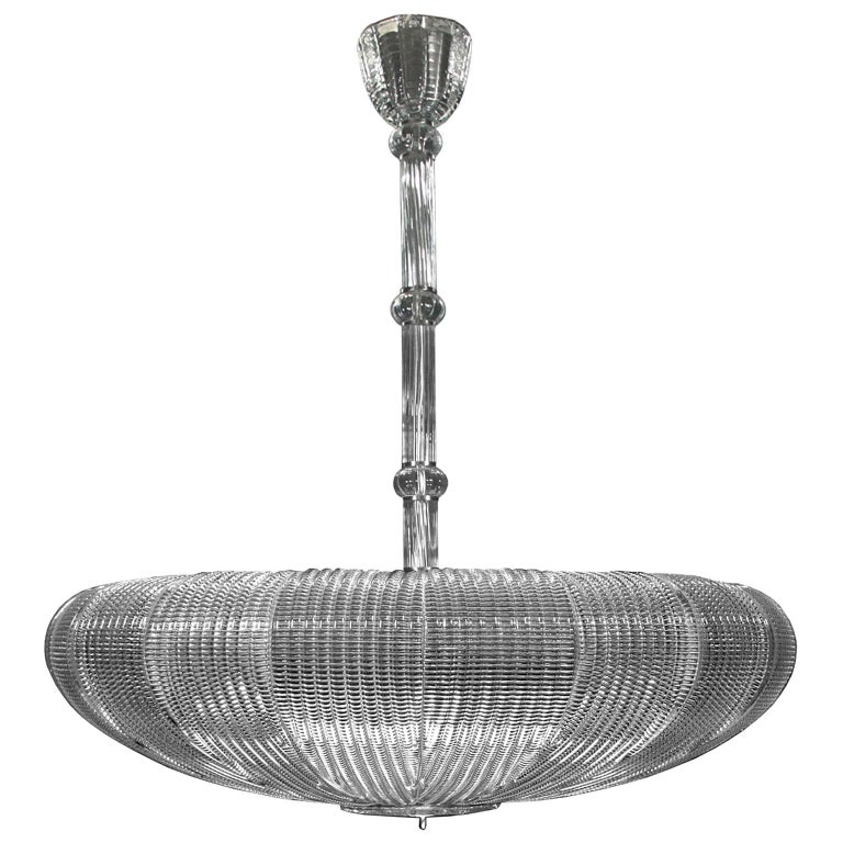 21st Century Luxury Chandelier Clear Glass Handmade Plates by Multiforme For Sale