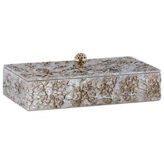 21st Century Madagascar M Wooden Decorative Box Handmade Texturized Effect