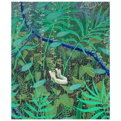 "Modern ""Mandibola"" Jaw in Jungle Painting by Marcantonio, Acrylic on Canvas"