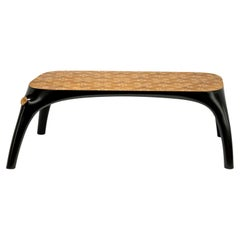 21st Century Marcantonio Dining Table Wood Inlay Black Lacquered Scapin