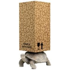 21st Century Marcantonio Storage Case Cabinet Turtle Wood Inlay Limited Edition