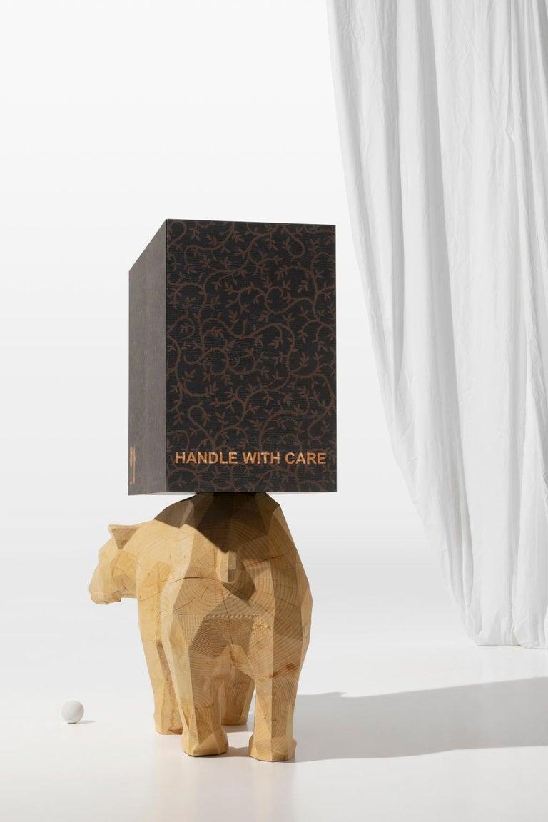Inlay 21st  Century Marcantonio Storage Case Piece Cabinet Bear wood inlay  For Sale