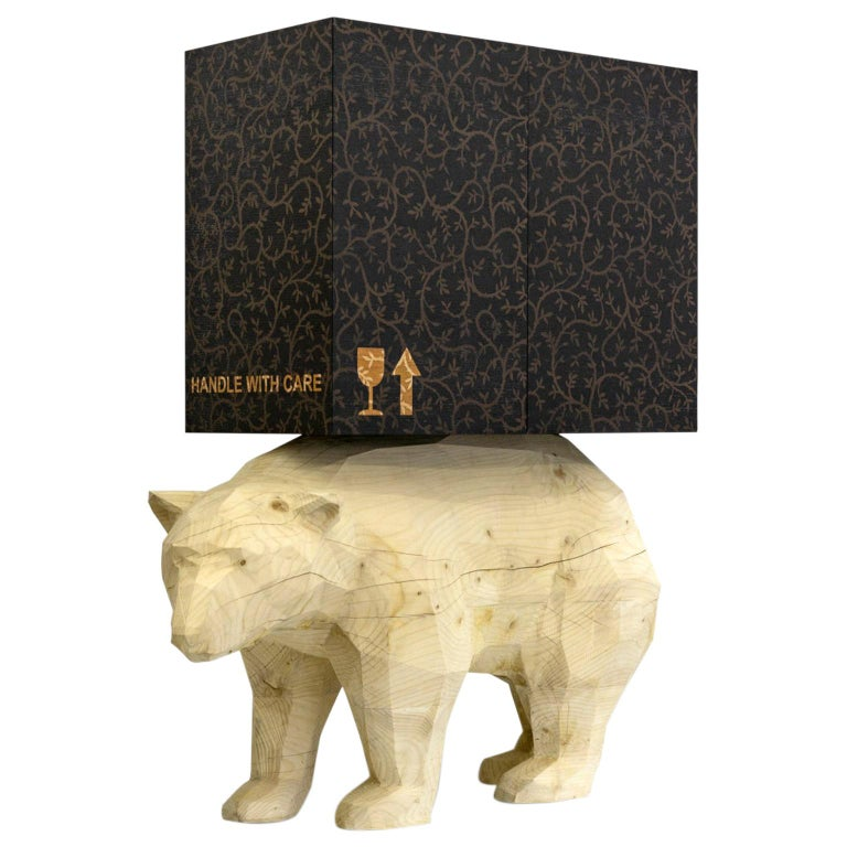 21st  Century Marcantonio Storage Case Piece Cabinet Bear wood inlay  For Sale