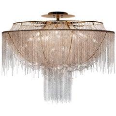 21st Century Margherita Crystal & Blown Glass Ceiling Lamp by Patrizia Garganti
